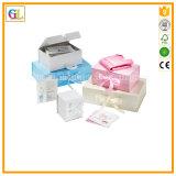 Boîte-cadeau estampée personnalisée de papier fabriqué à la main pour l'emballage