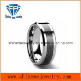 Shineme Jewelry Bague en tungstène en fibre de carbone noir