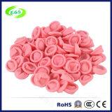 Chozas naturales rosadas del dedo del ESD del látex del 100% sin el polvo