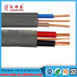 PVC изолировал электрический/электрический провод с проводником меди, котор сели на мель/твердые