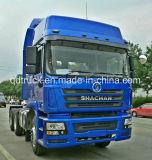 使用されたshacmanトラクターは375HPのCummins Engineが付いているトラックをトラックで運ぶ