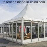 Kundenspezifisches faltendes überzogenes Hochzeitsfest-Pagode-Zelt mit Fenstertür für Verkauf