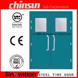 Nós porta de vidro Rated do aço da porta do incêndio padrão