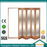 Porta de painel interior do quarto 4 de Bifolding da madeira contínua para o projeto residencial