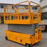 Plate-forme élévatrice verticale autoportée à ciseaux à 10 m de roues motorisées