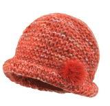 شتاء قبّعة أكريليكيّ جاكار [بني] قبّعة عالة [نيت] قبّعة [بوم] [بوم] [بني] قبّعة