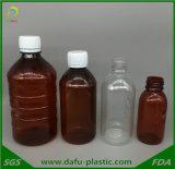 frasco plástico do animal de estimação 250ml para a medicina líquida