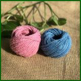 Bunte gefärbte Jutefaser-Faser-Schnur für gesponnen