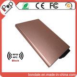 Алюминий RFID преграждая держатель кредитной карточки