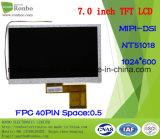 """écran de TFT LCD de 7.0 """" 1024X600 Mipi, 40pin pour la position, sonnette, médicale, véhicules"""
