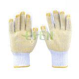 Le PVC a pointillé des gants de coton, gants de coton, gant pointillé par gants tricoté par coton