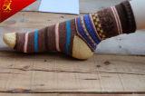 Serie etnica del mestiere dell'indennità del vento di maschio e di retro vento giapponese femminile nella riga spessa dei calzini del tubo