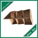 Recevoir la caisse d'emballage faite sur commande de carton de Brown avec des diviseurs