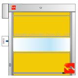 Porta industrial do PVC do rolamento rápido automático com indicador transparente