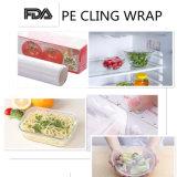 L'extension libre de PE de la catégorie comestible BPA s'attachent film pour l'enveloppe de nourriture avec le coupeur de glisseur