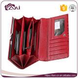 Изготовленный на заказ портмоне муфты, бумажник муфты портмона руки неподдельной кожи высокого качества Fani красный
