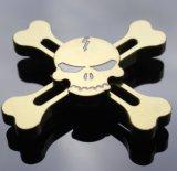 Goldener/Silber-metallischer Tri Unruhe-Spinner-Goldschädel-Art-Spinner