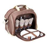 Sacchetto personalizzato di picnic della spalla delle 4 persone con l'insieme della coltelleria