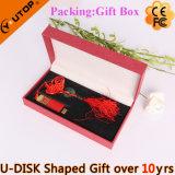USB de desplazamiento rojo plástico Pendrive (YT-3218-01) de los regalos del festival mini