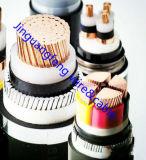 2-Core Cu/câble d'alimentation blindé isolé par XLPE de fil d'acier de /Thin de jupe de PVC