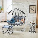 [دووبل ست] أرجوحة [ويكر] بيضة كرسي تثبيت يعيش غرفة أرجوحة كرسي تثبيت رفاهية أثاث لازم خارجيّة ([د155])
