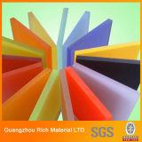 Hoja de acrílico del plástico del plexiglás PMMA de la hoja del color