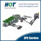 Ingeniería para el carbón del oro en planta (CIL) de la lixiviación