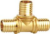 Guarniciones de cobre amarillo de la te de la cuerda de rosca interna
