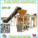 Machine de fabrication de brique concrète semi automatique de machine à paver en Zambie