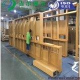 Mobilia di legno di legno della mensola di visualizzazione della cremagliera del basamento della mensola di libri