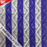 服のための普及した青い縞のレースファブリック