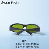 2017 occhiali di protezione del laser del più nuovo prodotto Ady 740-1100nm per Alexandrite, 808&980nm diodi, ND: Macchina di rimozione dei capelli del laser di YAG