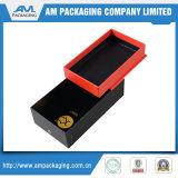 Plata metálica personalizada logotipo cuadrado de regalo cajas de terciopelo con Insertar