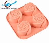 Gelée DIY de Rose de silicones de 4 trellis décorant des moulages
