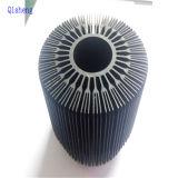 Теплоотвод для ясно анодированных освещения СИД, алюминия штрангя-прессовани, 6063, черных или