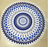 曼荼羅の海洋の昇華スイカは100%年の綿の円形のビーチタオルを形づけた