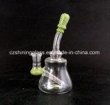 Piccolo &#160 più poco costoso variopinto popolare; Tubo di acqua di fumo di vetro Czs-S01