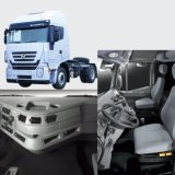 Iveco 4X2 50t 340HP 편평한 지붕 긴 트랙터 트럭