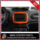 Ajuste central del estilo anaranjado material del ABS del accesorio auto para el modelo renegado (1PC/SET)