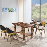 Los muebles de madera del restaurante fijaron con el vector y la silla doble del color (SP-CT692) del rectángulo