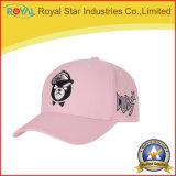3D gorra de béisbol promocional del panel del bordado 6 con aduana de la insignia