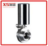"""2.5 """" Pneumatische Actuator Triclover van het Roestvrij staal Ss304 Vleugelklep"""