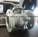 Valvola a sfera dell'acciaio inossidabile, estremità flangiata, rf