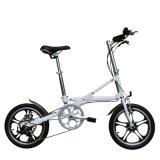 velocidad de la aleación de aluminio 16inch 7 una bici plegable del segundo (YZBS-7-16)