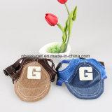 Casquillo ajustable del sombrero de la protección de Sun de los deportes al aire libre del sombrero de béisbol del perro para el perro pequeño y medio Esg10175
