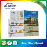 Brochure de couleur d'impression pour la peinture intérieure et extérieure