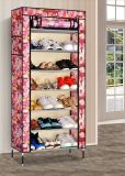 6つの立方体の棚の陳列台の靴の記憶のオルガナイザーのキャビネット