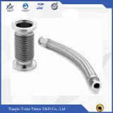 Mangueira flexível do metal da tubulação da exaustão do aço inoxidável com tranças e a flange dobro