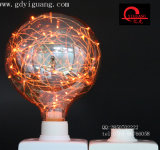 Lampadina variopinta speciale arancione del materiale G125 G95 G80 del collegare di rame delle lampadine della stella del LED