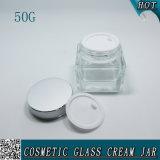 50g de elegante Vierkante Duidelijke Kosmetische Kruik van de Room van de Fles van het Glas